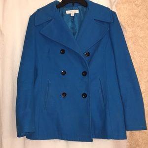 New York and Company blue Pea Coat